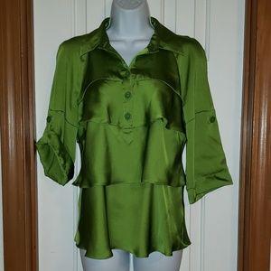 Lime Green Ruffled Top